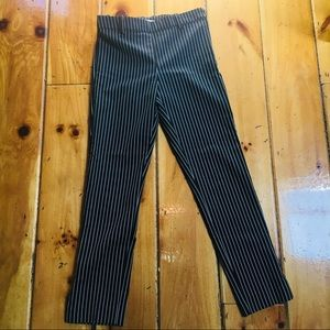 H&M NWOT Striped Mid-Rise Skinny Ankle Pants